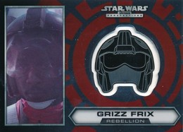 2014 Topps Star Wars Chrome Perspectives Helmet Medallions 14 Grizz Frix 260x187 Image