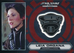 2014 Topps Star Wars Chrome Perspectives Helmet Medallions 17 Leia Organa 260x188 Image