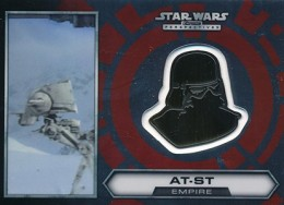 2014 Topps Star Wars Chrome Perspectives Helmet Medallions 20 AT ST 260x188 Image
