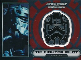 2014 Topps Star Wars Chrome Perspectives Helmet Medallions 21 TIE Fighter Pilot 260x193 Image