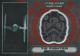 2014 Topps Star Wars Chrome Perspectives Helmet Medallions 22 TIE Fighter 260x184 Image
