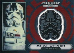 2014 Topps Star Wars Chrome Perspectives Helmet Medallions 23 AT AT Driver 260x188 Image