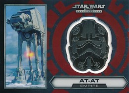 2014 Topps Star Wars Chrome Perspectives Helmet Medallions 24 AT-AT