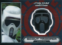 2014 Topps Star Wars Chrome Perspectives Helmet Medallions 25 Scout Trooper 260x188 Image