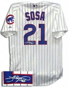 Sammy Sosa Signed Jersey