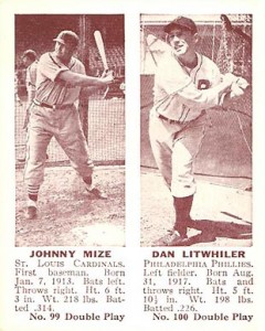 1941 Double Play Johnny Mize with Dan Litwhiler