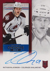 2013-14 Panini Contenders Hockey Rookie Ticket Autograph 256 Nathan MacKinnon
