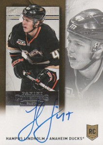 2013-14 Panini Contenders Hockey Rookie Ticket Autograph Variation 234 Hampus Lindholm
