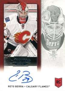 2013-14 Panini Contenders Hockey Rookie Ticket Autograph Variation 243 Reto Berra