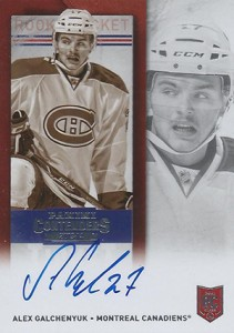 2013-14 Panini Contenders Hockey Rookie Ticket Autograph Variation Alex Galchenyuk Sepia