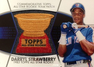 2014 Topps Series 2 Baseball All-Rookie Cup Manufactured Patch Strawberry