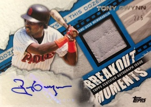 2014 Topps Series 2 Baseball Breakout Moments Autographed Relic Gwynn