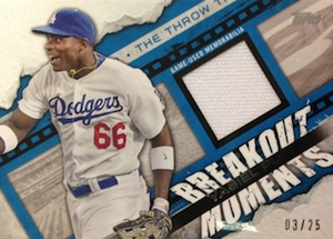 2014 Topps Series 2 Baseball Breakout Moments Relic Puig