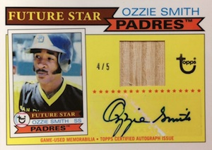 2014 Topps Series 2 Baseball Future Stars That Never Were Autographed Relics Ozzie Smith