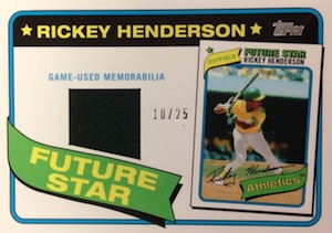 2014 Topps Series 2 Baseball Future Stars That Never Were Relics Rickey Henderson