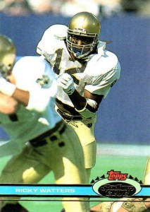1991 Stadium Club Ricky Watters RC