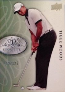 2014 Exquisite Golf Base Tiger Woods