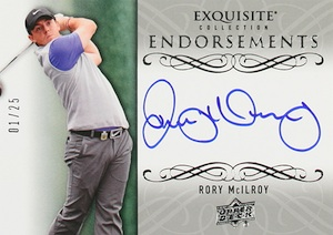2014 Upper Deck Exquisite Golf Endorsements Rory McIlroy
