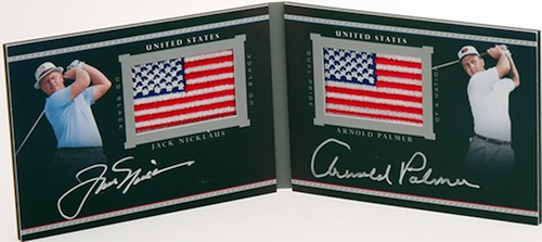 2014 Upper Deck Exquisite Golf UD Black Dual Pride of a Nation Signatures Nicklaus Palmer