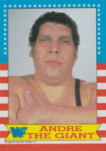 1987 Topps WWF Base Superstar Andre the Giant 211x300 Image