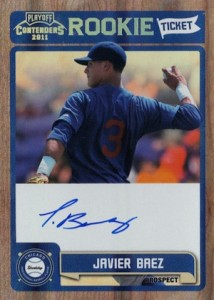 2011 Playoff Contenders Rookie Ticket Javier Baez RT13 Autograph  214x300 Image