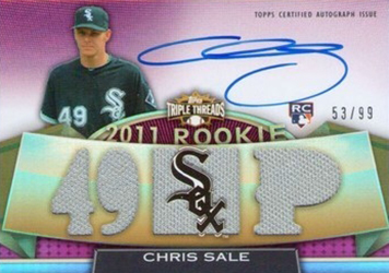 2011 Topps Triple Threads Chris Sale RC