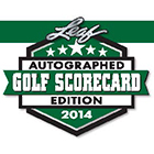 2014 Leaf Autographed Golf Scorecard Edition