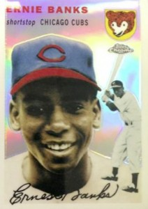 2014 Topps Chrome Baseball All-Time Rookie Reprints Ernie Banks