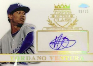 2014 Topps Chrome Baseball Topps of the Class Autographs