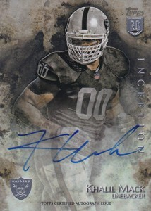 2014 Topps Inception Football Rookie Autographs 35 Khalil Mack
