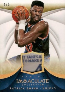 2013-14 Panini Immaculate Collection Basketball Jersey Tags Patrick Ewing