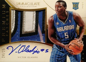 2013-14 Panini Immaculate Collection Basketball Premium Autograph Patches Victor Oladipo