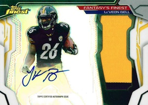 2014 Topps Finest Football Fantasy's Finest Autographed Jumbo Patch