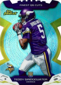 2014 Topps Finest Football Finest QB Cuts Bridgewater