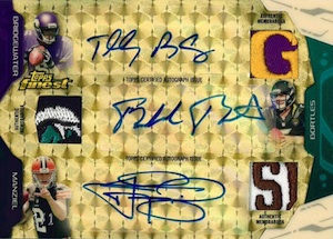 2014 Topps Finest Football Triple Autograph Triple Relic Superfractor