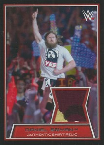 2014 Topps WWE Road to Wrestlemania Shirt Relic Daniel Bryan