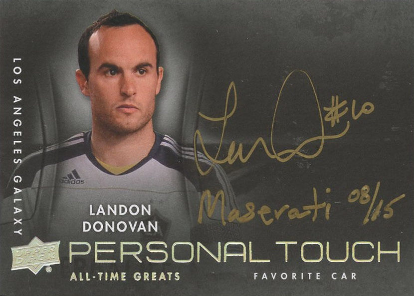 2012 Upper Deck All-Time Greats Personal Touch Landon Donovan