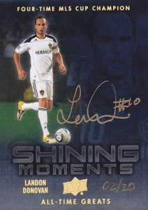 2012 Upper Deck All-Time Greats Shining Moments Landon Donovan