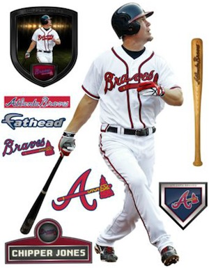 Atlanta Braves Fatheads Chipper Jones