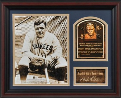 Babe Ruth New York Yankees Framed HOF Collage