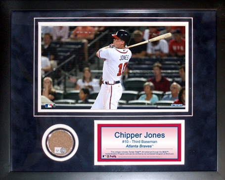 Chipper Jones Atlanta Braves Collage with Authentic Field Dirt