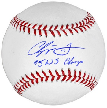 Chipper Jones Atlanta Braves Signed Baseball