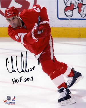 Chris Chelios Detroit Red Wings Signed Photo