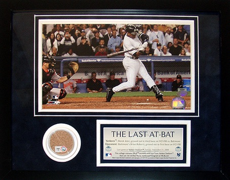 Derek Jeter The Last At-Bat Mini Dirt Collage