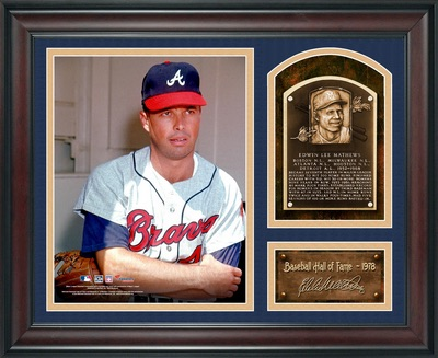 Eddie Matthews Atlanta Braves Framed HOF Collage
