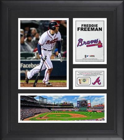 Freddie Freeman Atlanta Braves Framed Collage with Game-Used Baseball