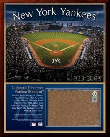 New York Yankees Original Stadium Dirt Plaque