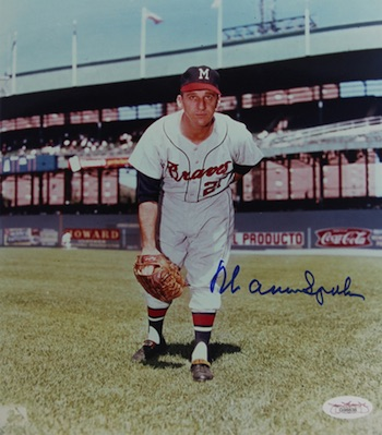 Warren Spahn Atlanta Braves Signed Photo