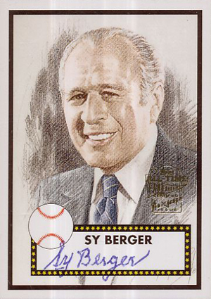 2004 Topps All-Time Fan Favorites Autographs Sy Berger