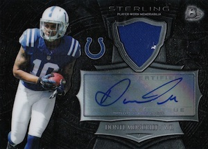 2014 Bowman Sterling Football Autographed Relics Moncrief